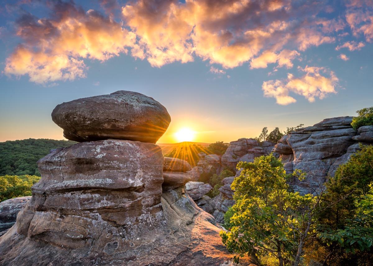 southern illinois, garden of gods, rocks