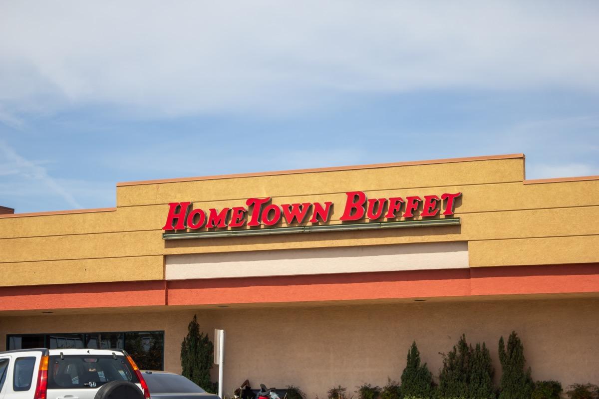 hometown buffet restaurant exterior