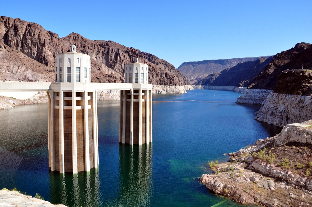 Lake Mead as seen from the Hoover Dam