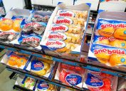 hostess desserts on rack at convenience store or grocery store