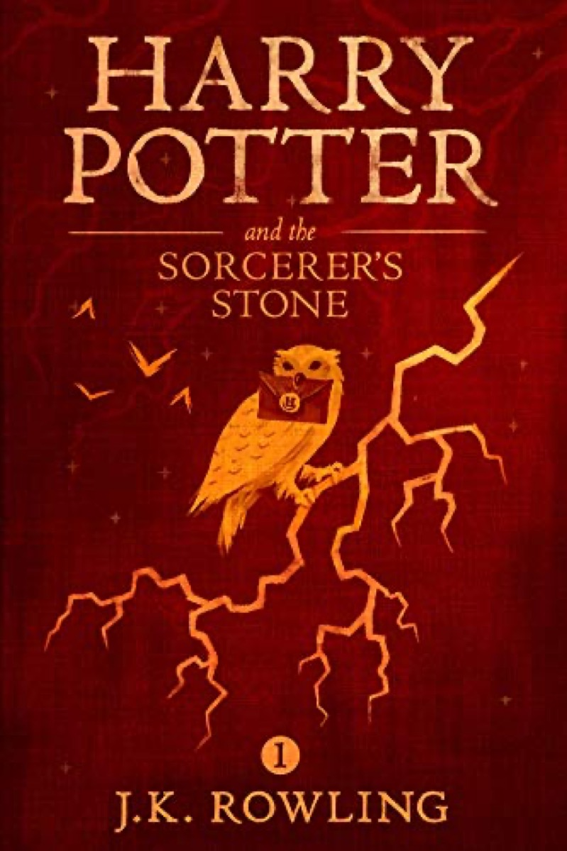 """Book cover of """"Harry Potter and the Sorcerer's Stone"""" by J.K. Rowling"""