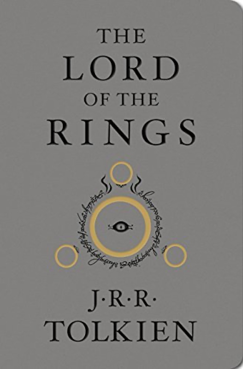 """Book cover of """"The Lord of the Rings"""" by J.R.R. Tolkien"""