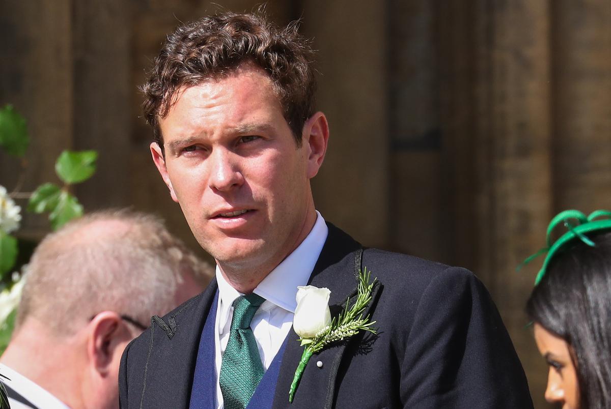Jack Brooksbank seen at the wedding of Ellie Goulding and Caspar Jopling at York Minster Cathedral on August 31, 2019 in York, England.