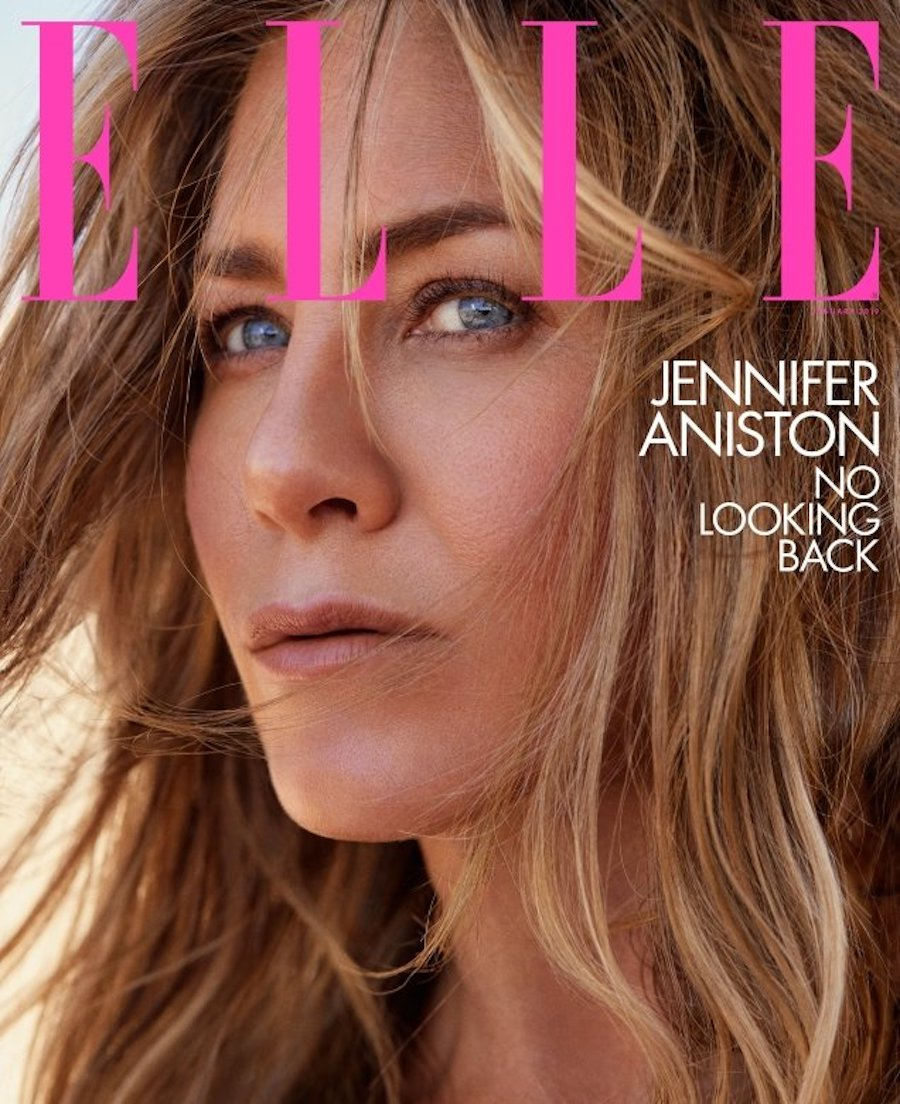 """Jennifer Aniston on the January 2019 cover of """"Elle"""""""