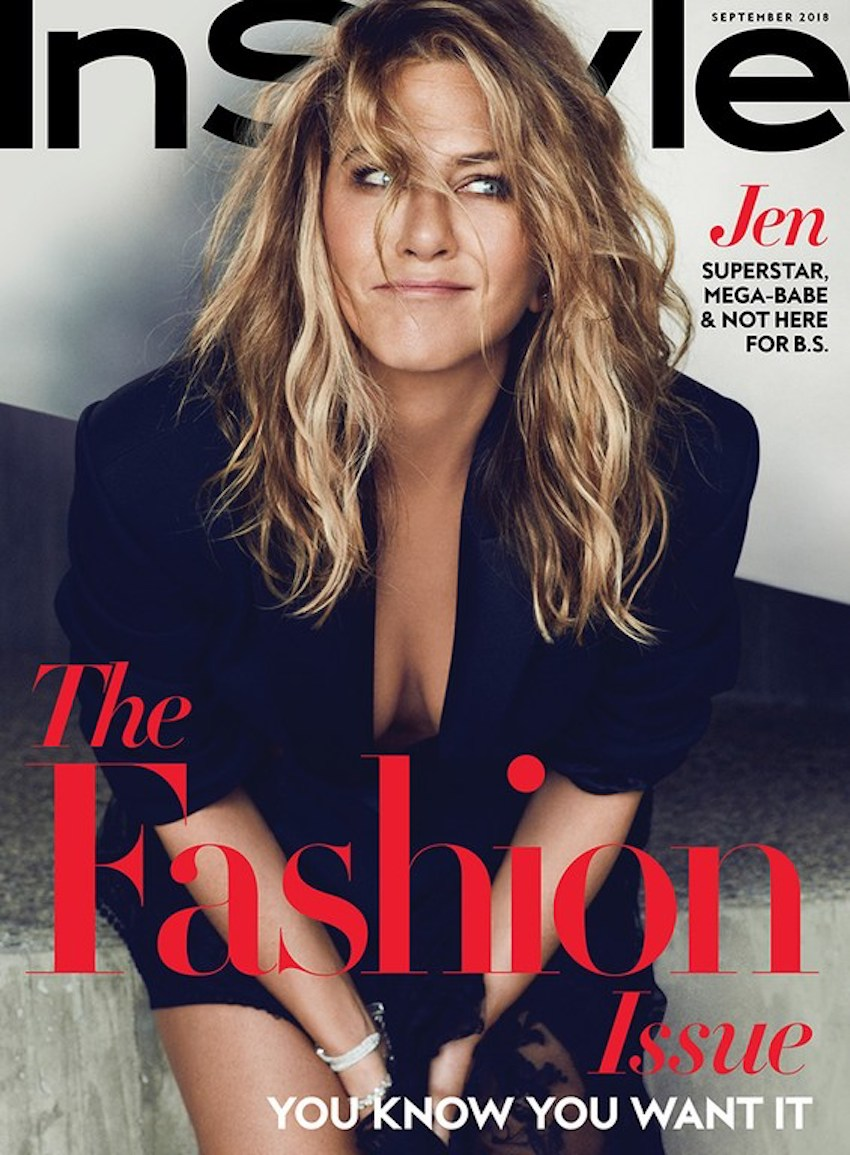 """Jennifer Aniston on the September 2018 cover of """"InStyle"""""""