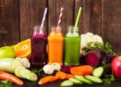 fresh vegetable juice, carrots, beets, oranges, fruit