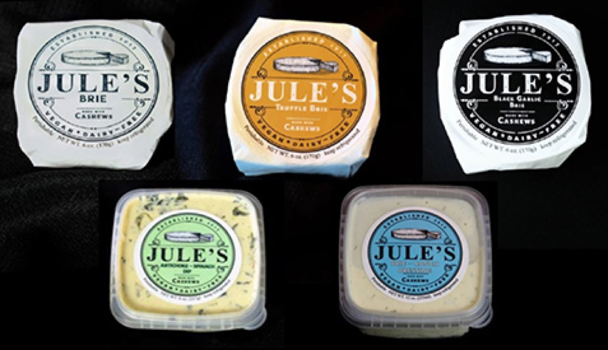 jule's cashew brie products