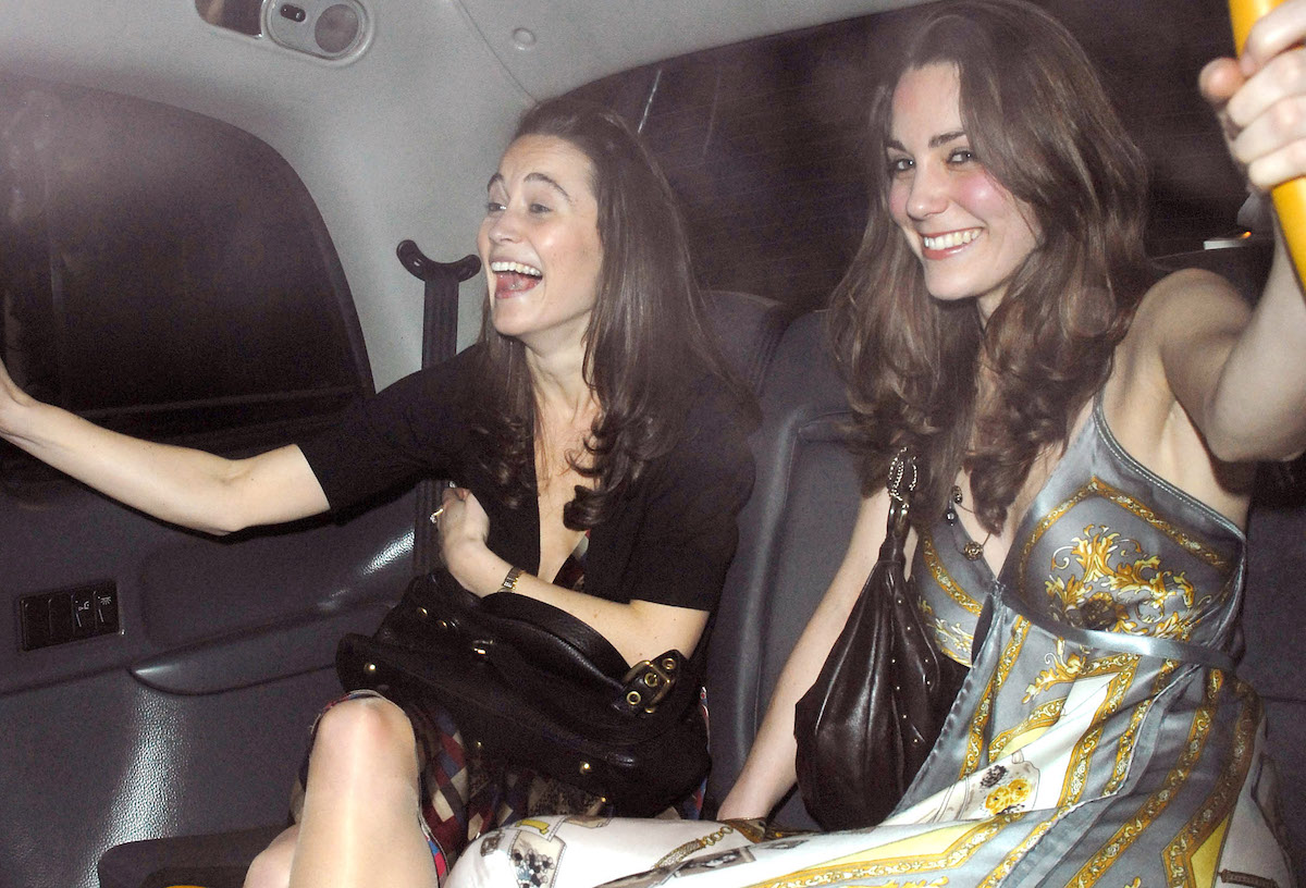 Kate Middleton and sister Pippa on a night out in 2007