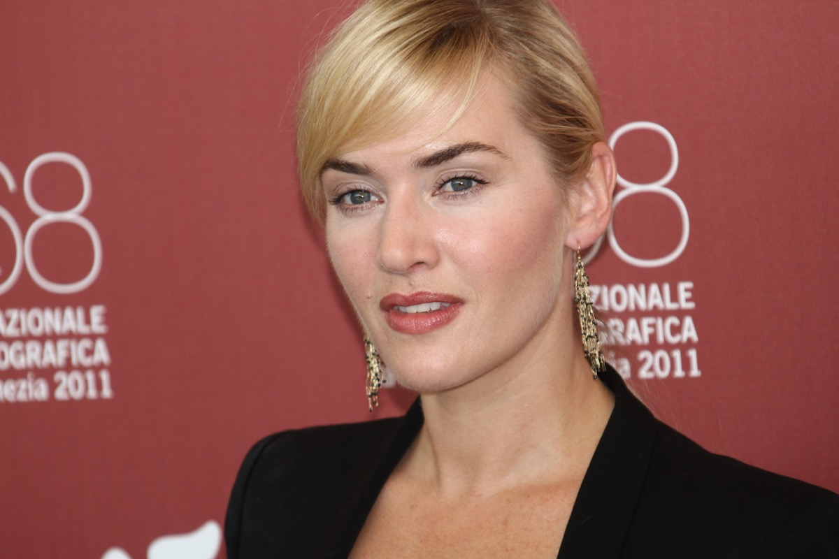VENICE, ITALY - SEPTEMBER 02: Actress Kate Winslet poses at the 'Mildred Pierce' photocall at the Palazzo del Cinema during the 68th Venice Film Festival on September 2, 2011 in Venice, Italy.