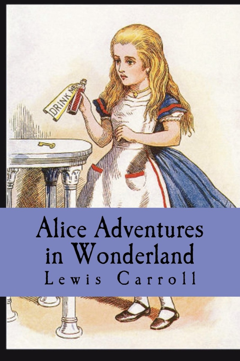 """book cover of """"Alice Adventures in Wonderland"""" by Lewis Carroll"""