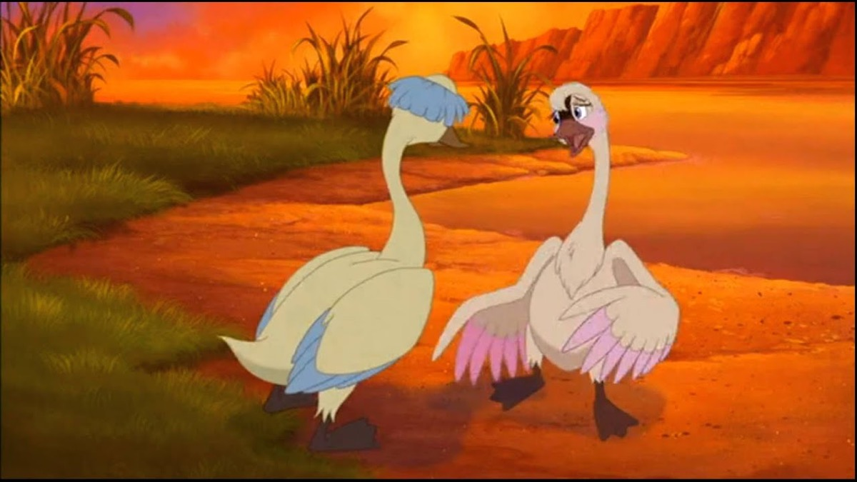 still from trumpet of the swan