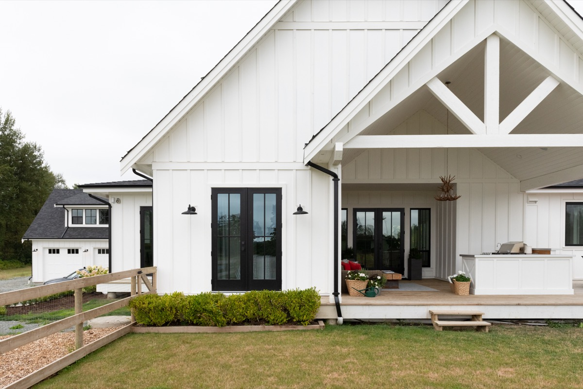exterior of farmhouse, modern farmhouse painted white