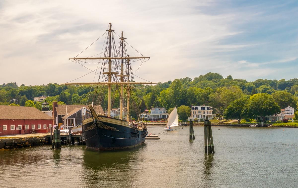 mystic, connecticut, port, boat