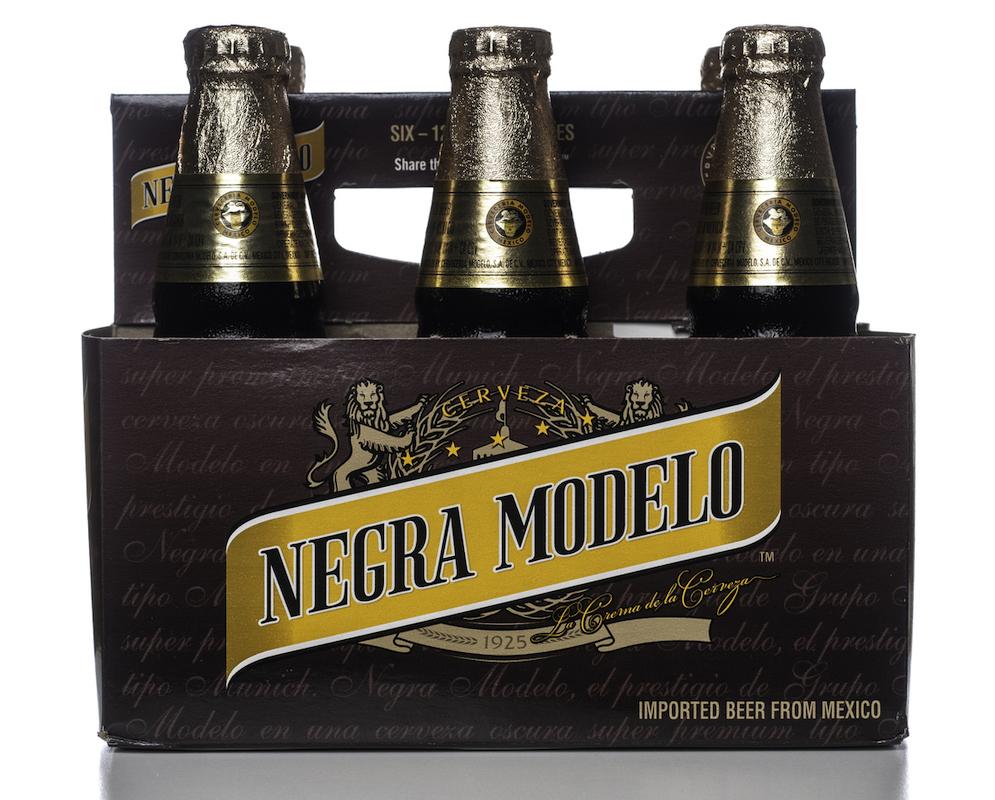 Six pack of Negra Modelo beer.
