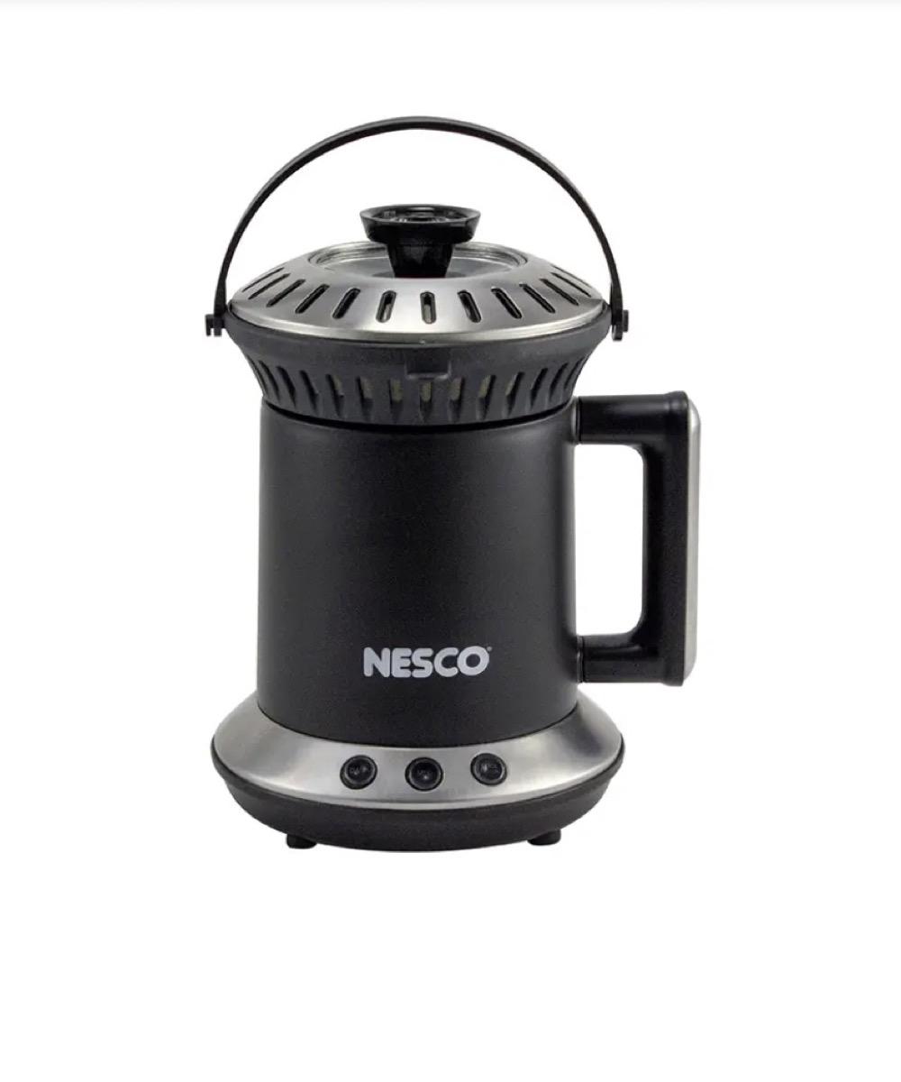 black nesco coffee roaster