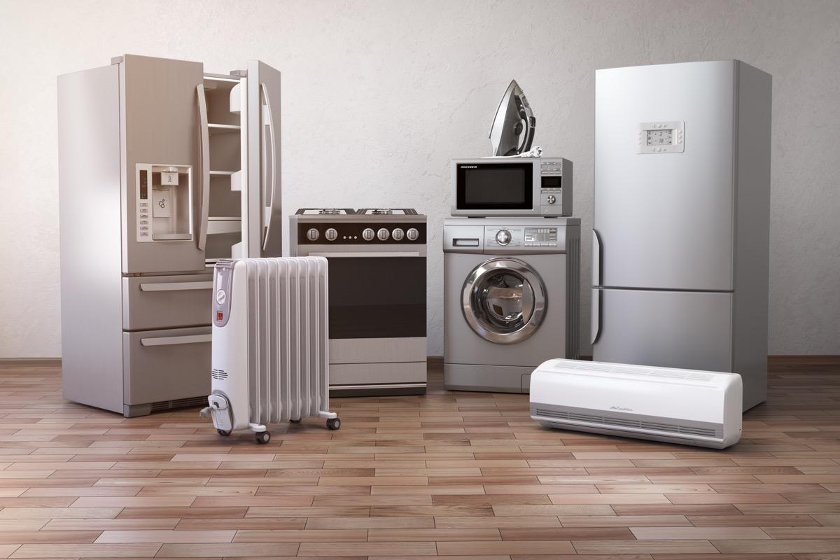 new appliances, washer, dryer, refridgerator
