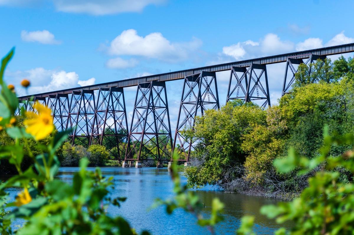 north dakota, bridge, water