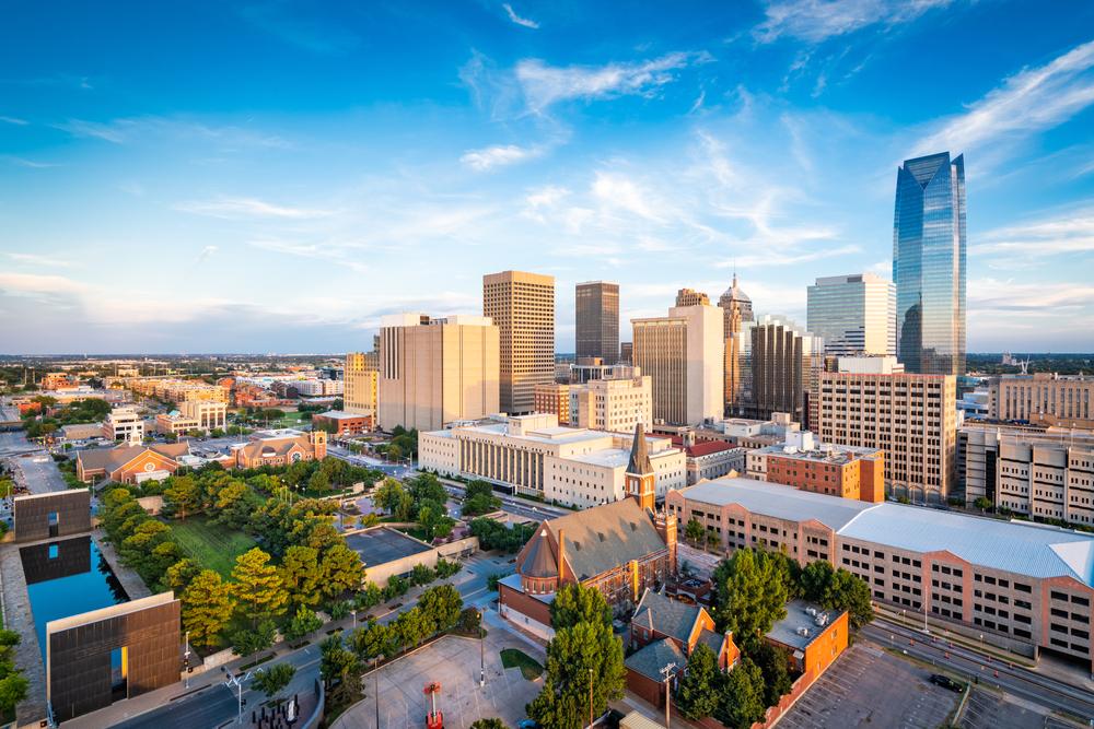 The skyline of Oklahoma City, Oklahoma