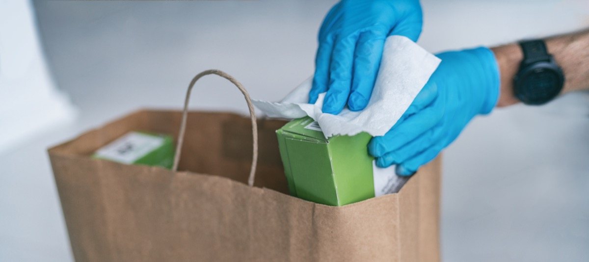 Disinfecting package