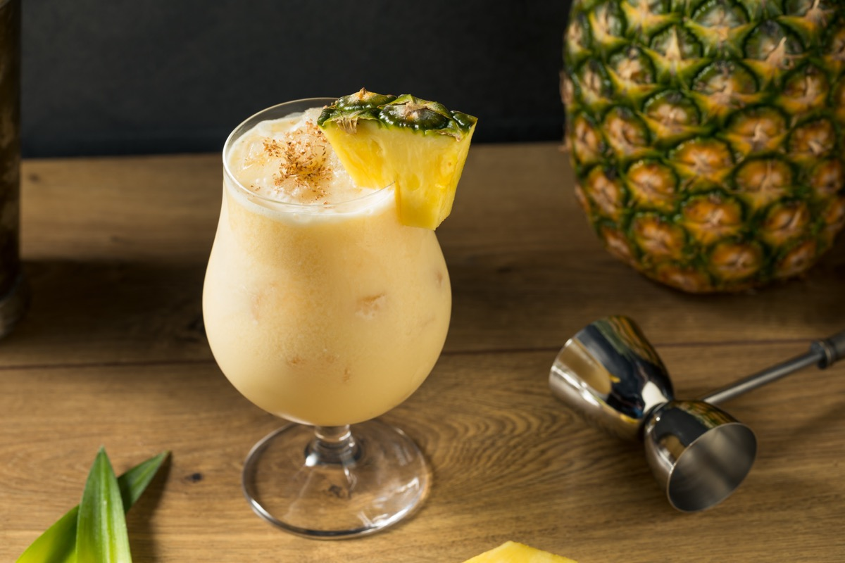 painkiller cocktail with pineapple