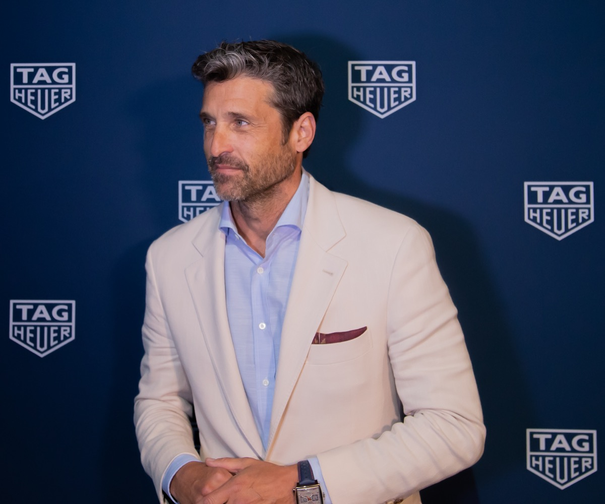 Patrick Dempsey at the Tag Heuer celebration in 2019