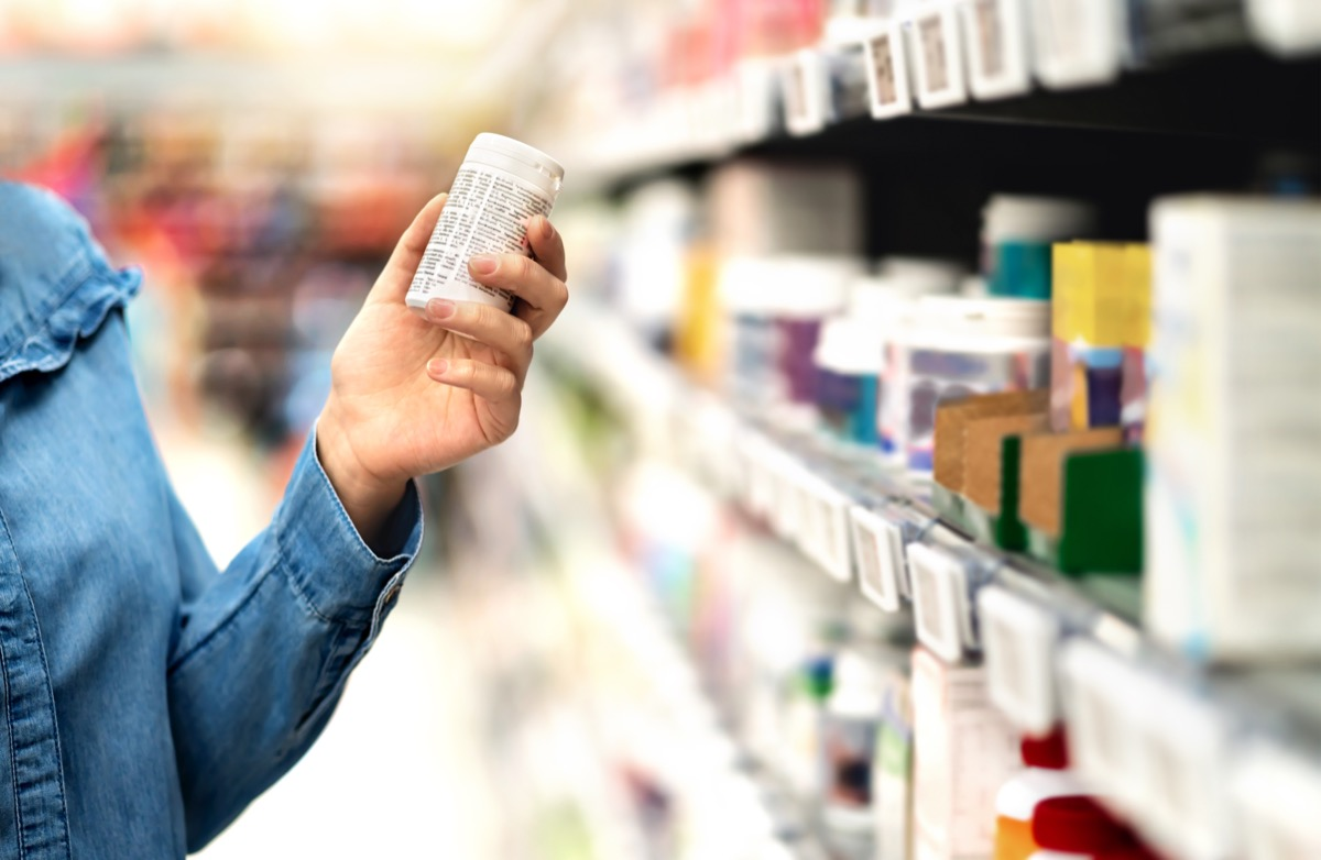 person vitamin shopping