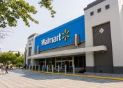 Walmart store on a sunny day, south San Francisco bay area