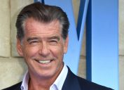 """Pierce Brosnan at the premiere of """"Mama Mia! Here We Go Again"""" in 2018"""