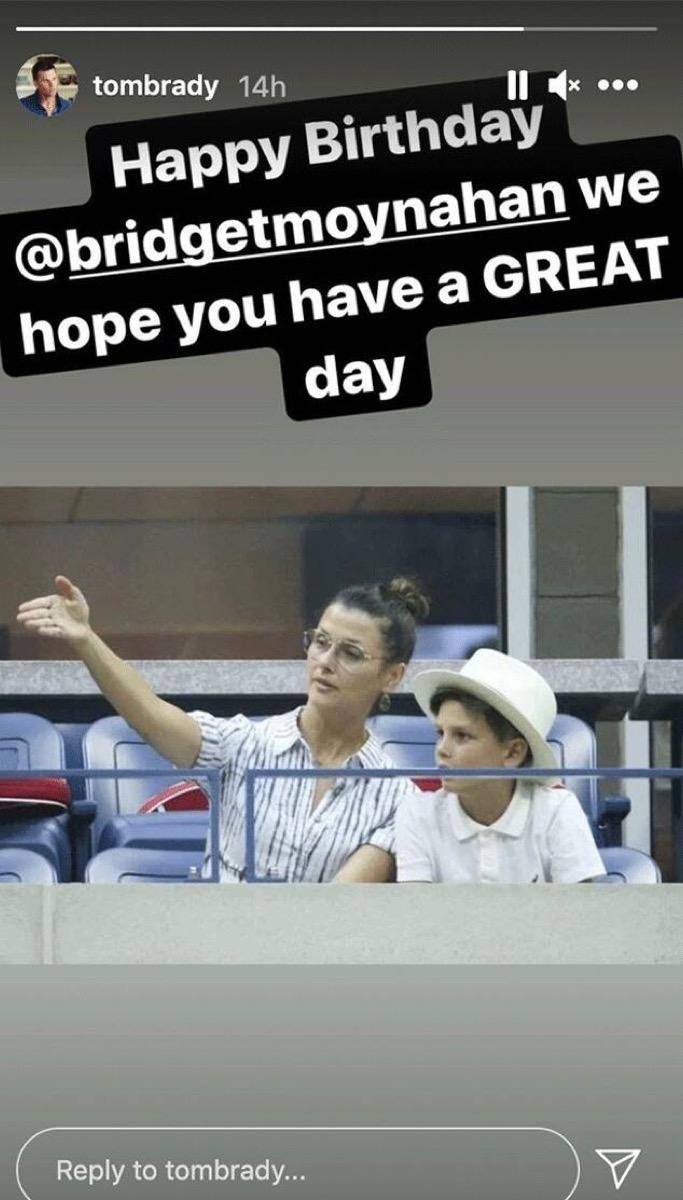 Bridget Moynahan and John Moynahan on Tom Brady's Instagram story