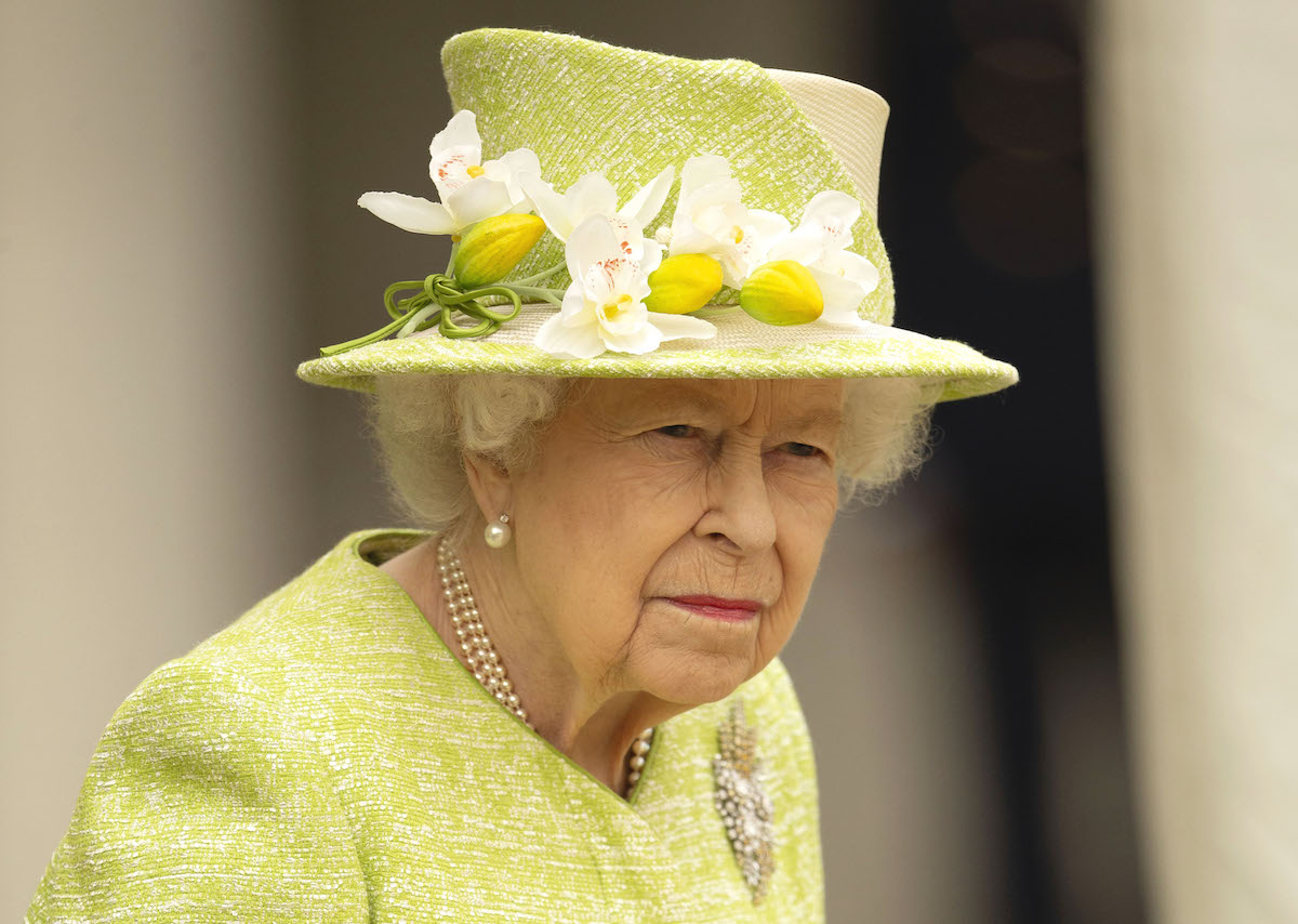Her Majesty the Queen during her visit to the Royal Australian Air Force Memorial, at Runnymede. Picture by Steve Reigate 31/3/2021