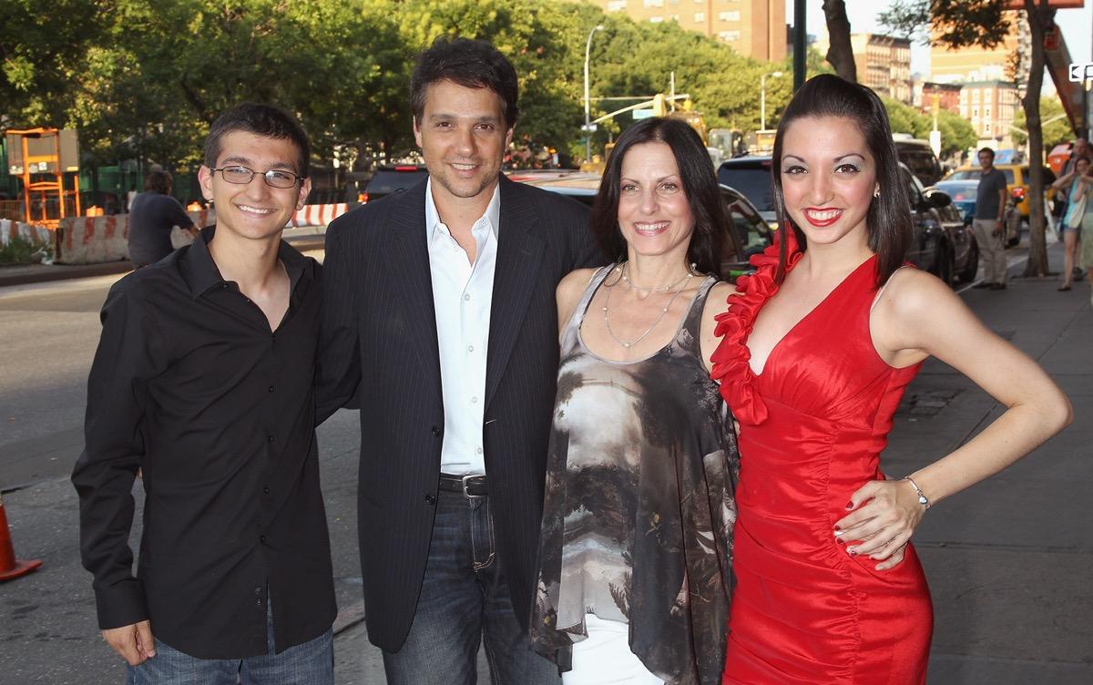 Phyllis Macchio, Ralph Macchio, Daniel Macchio, and Julia Macchio in 2015