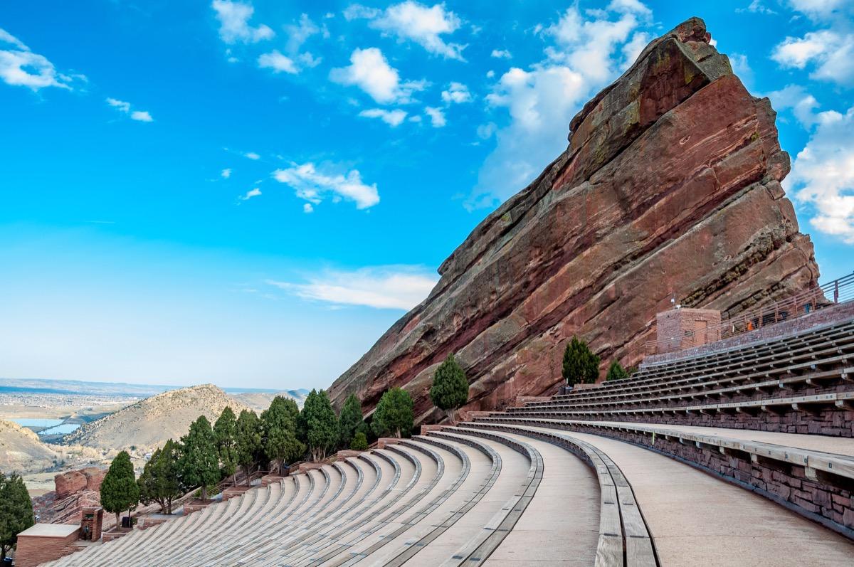 red rocks amphitheater, near denver colorado