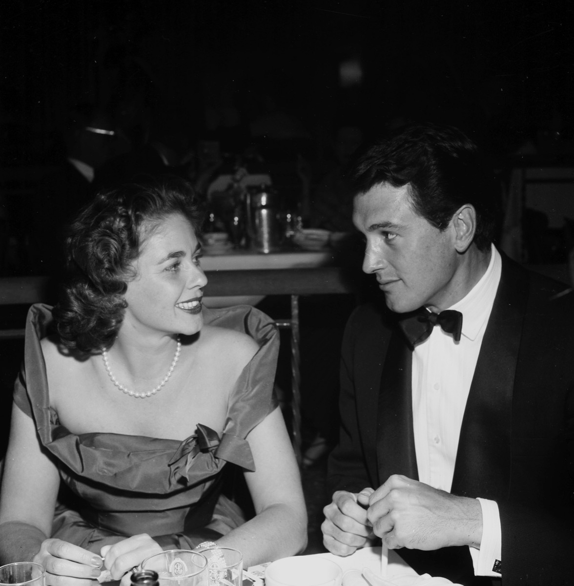 Rock Hudson and Phyllis Gates in 1957