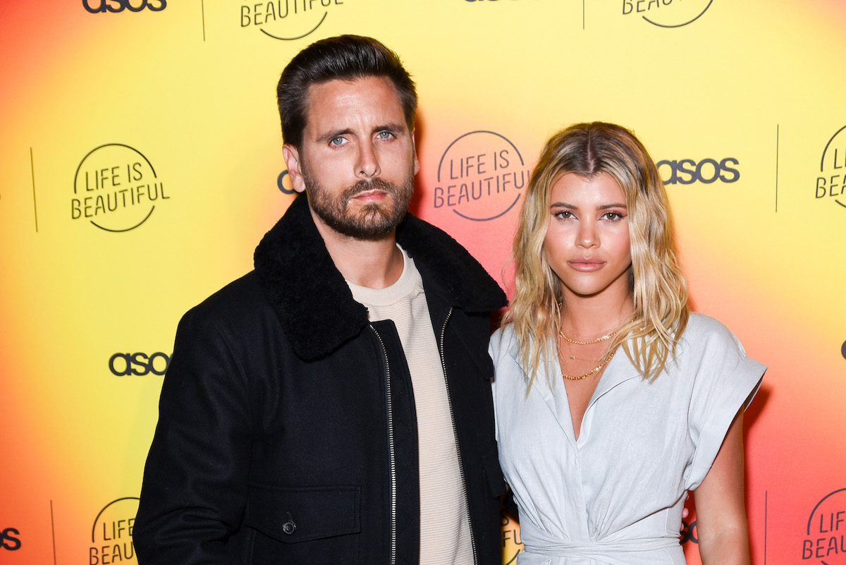 Scott Disick and Sofia Richie attend ASOS celebrates partnership with Life Is Beautiful at No Name on April 25, 2019 in Los Angeles, California.