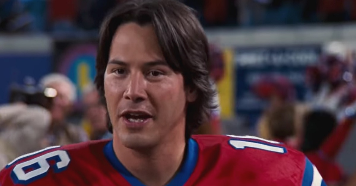 keanu reeves in the replacements