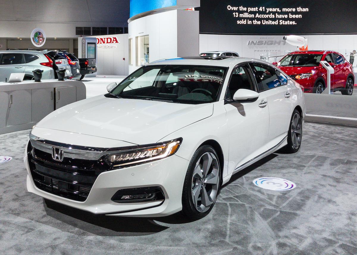 2018 white Honda Accord