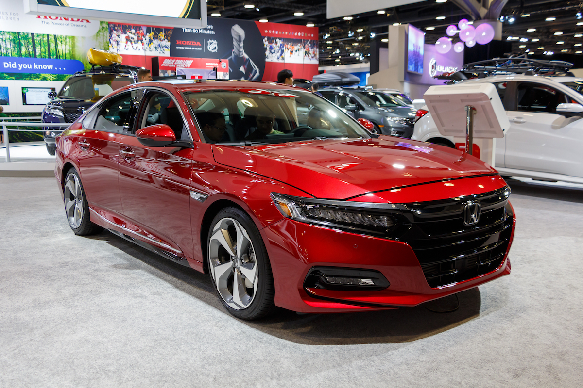2019 red Honda Accord