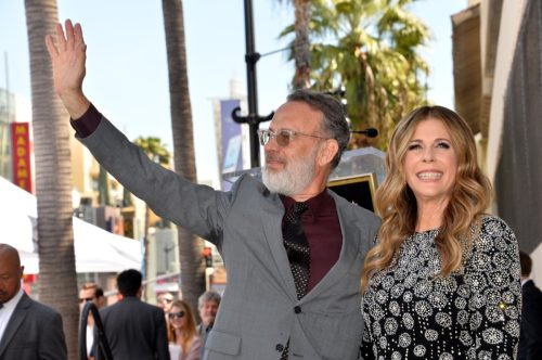 Tom Hanks and Rita Wilson at her Hollywood Walk of Fame Ceremony in 2019