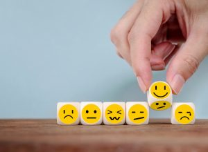 Emotion faces on dice