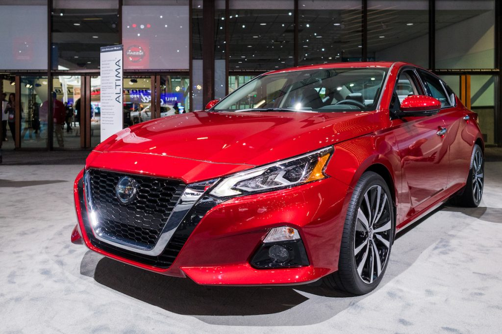 Red Nissan Altima