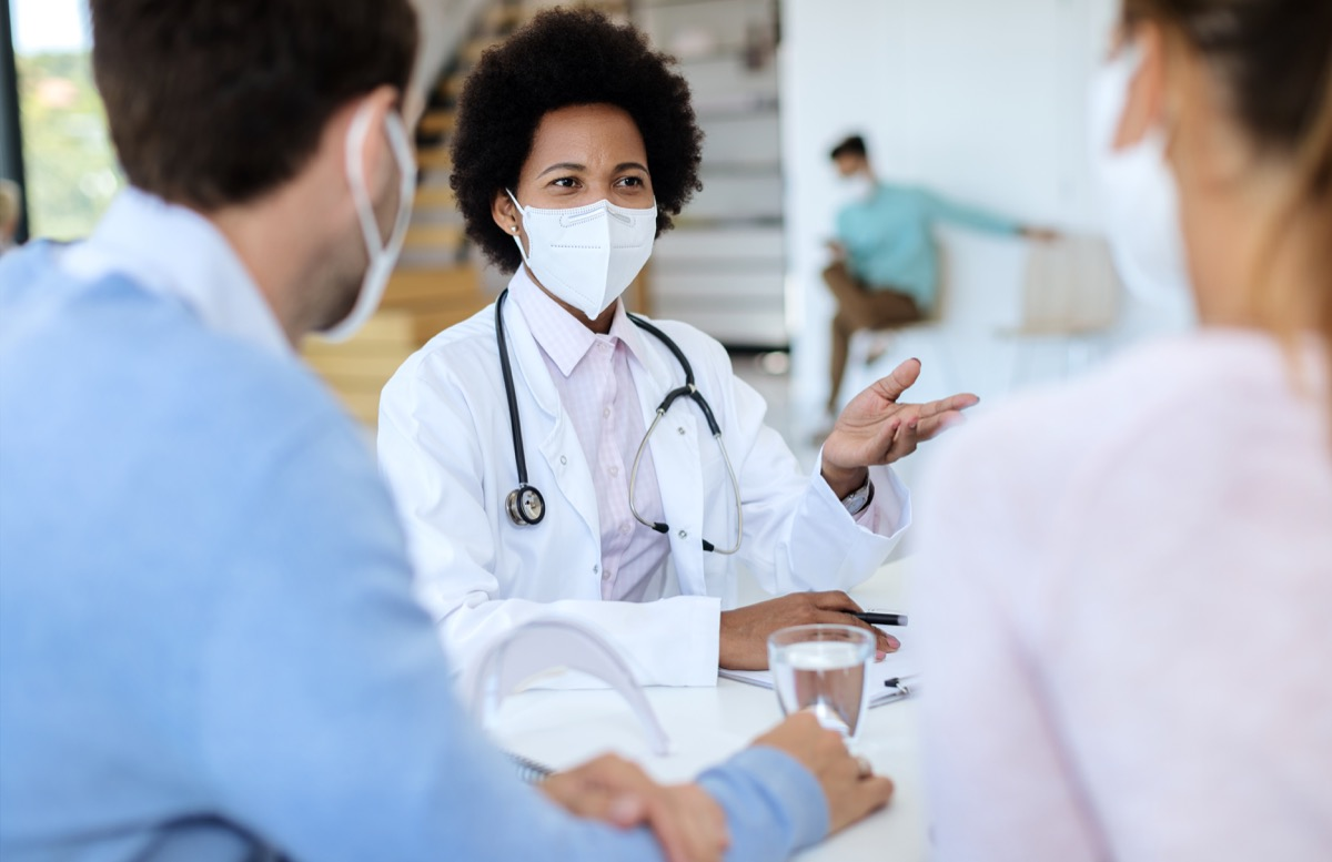 young doctor talking to patients