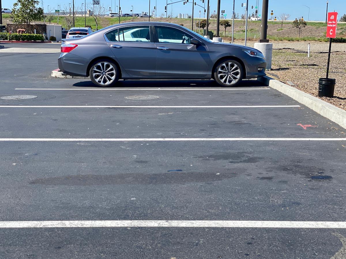 Honda Accord in parking lot