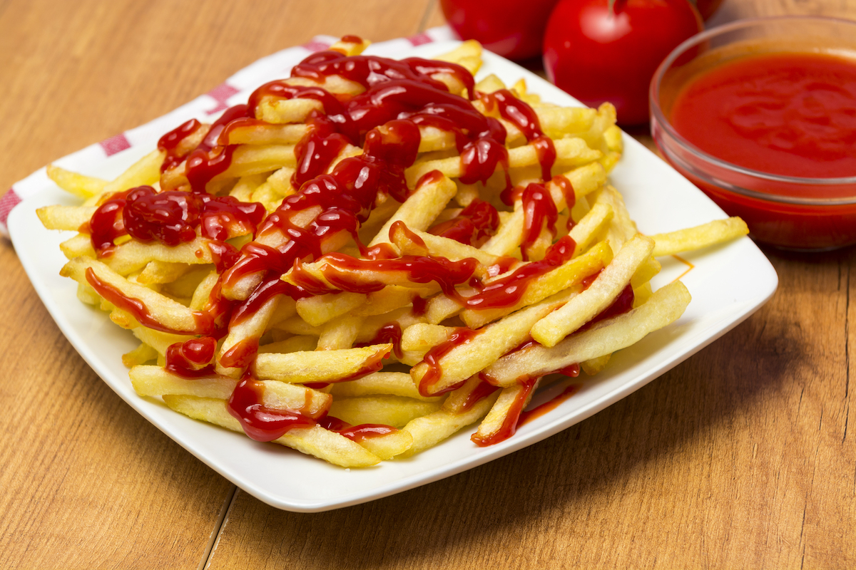 Ketchup on fries