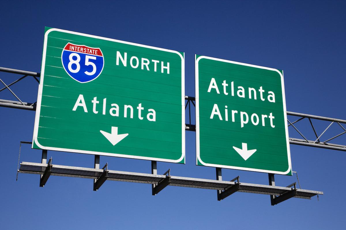 I-85 road sign in Atlanta