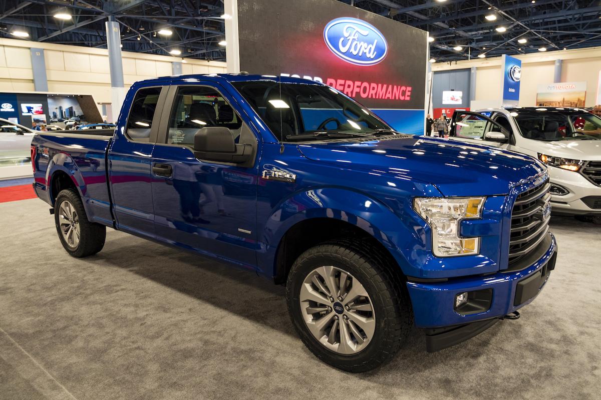 Blue 2016 Ford F-150