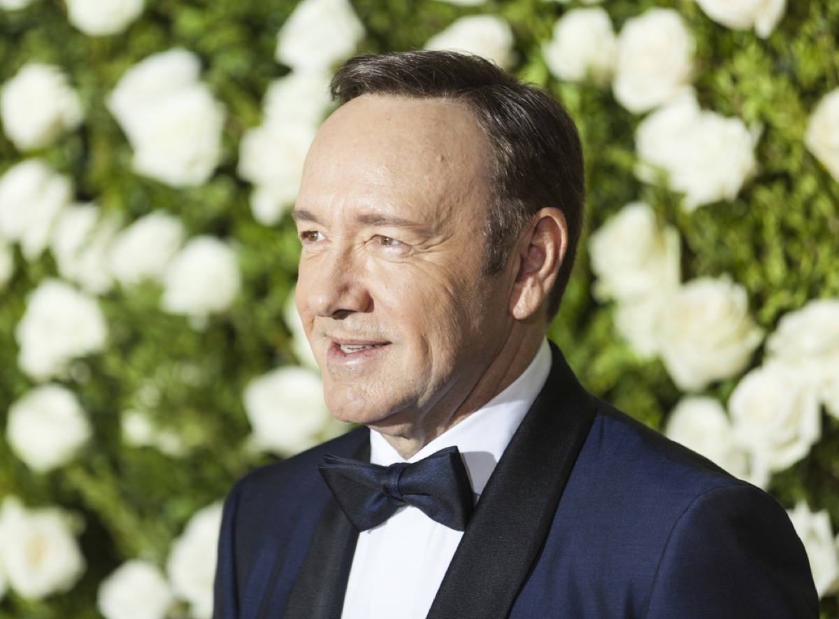 kevin spacey on the red carpet
