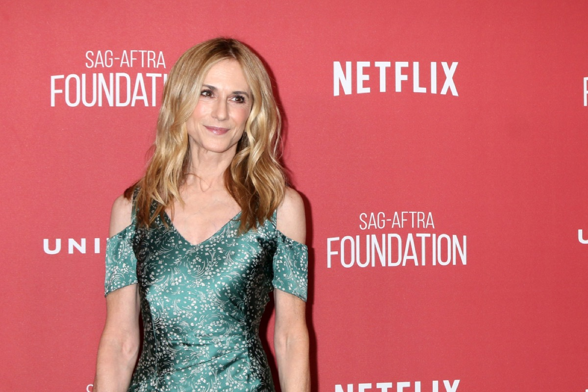 holly hunter on the red carpet