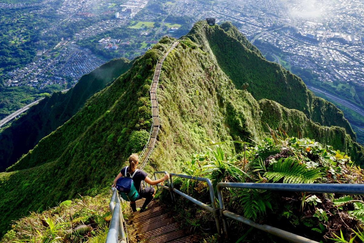 stairway to heaven, haiku stairs in hawaii