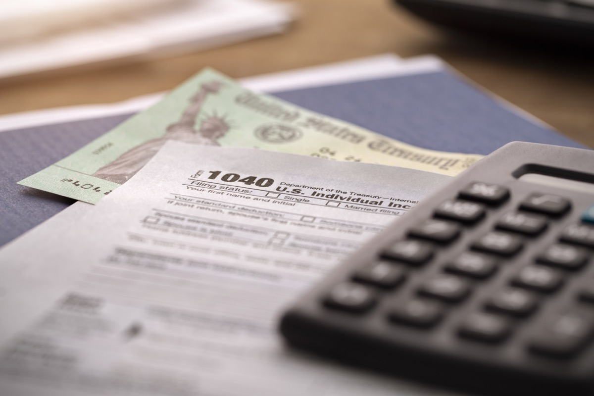the department of treasury is issuing to US citizens economic impact payments known as a stimulus check or tax refund concept.