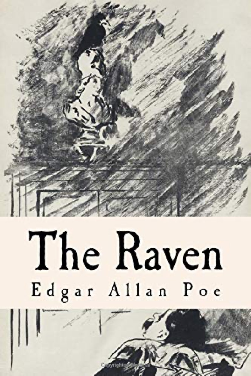 """Book cover of """"The Raven"""" by Edgar Allan Poe"""